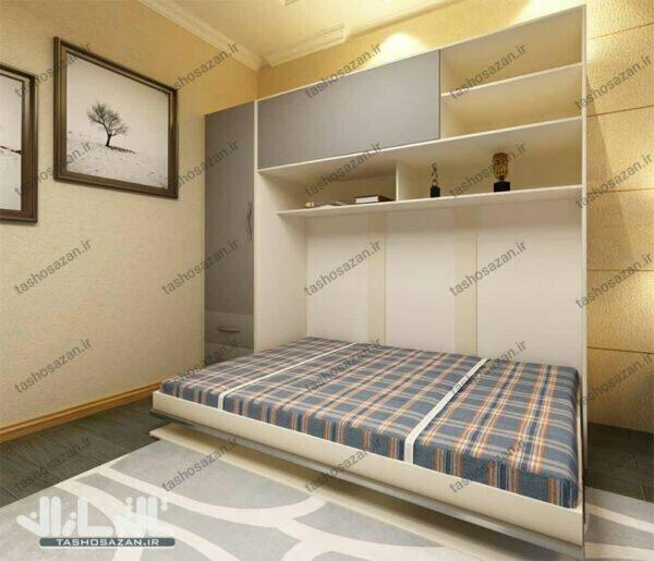 تصویر تخت کمجا یک نفره افقی مدل TSH-۹۸۱۰